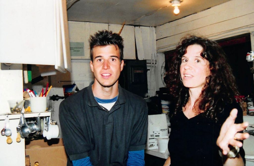 Evan Wright and Grace Llewellyn at Not Back to School Camp, 2002