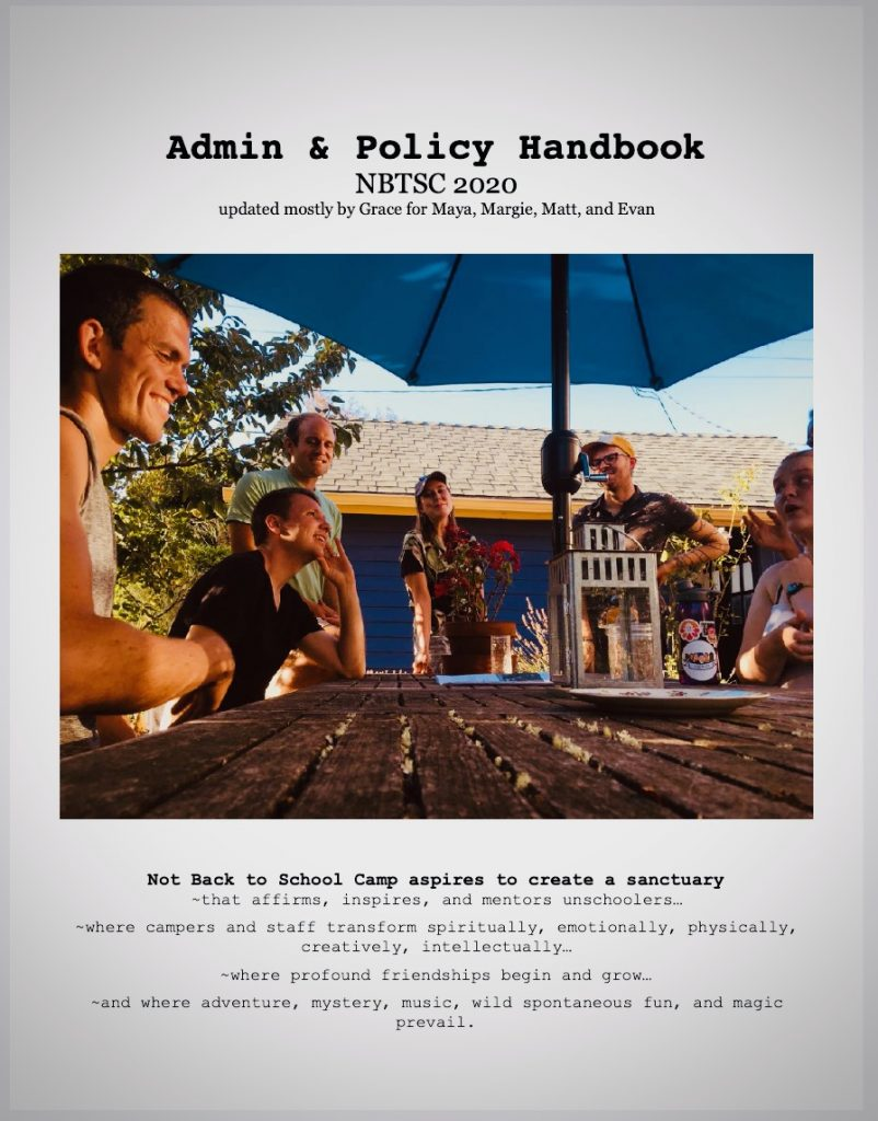 cover of 2020 NBTSC admin handbook