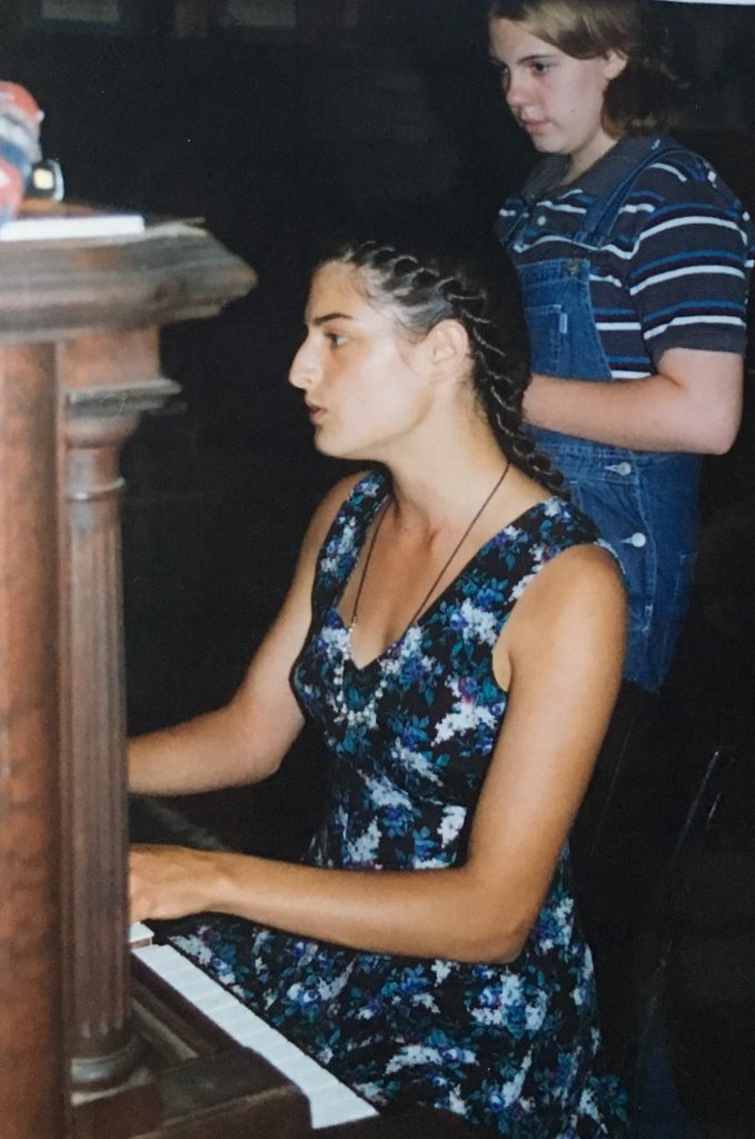 Sarabeth playing the piano